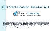 ISO Certification Mentor OH Powerpoint Presentation