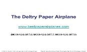 The Deltry Paper Airplane Powerpoint Presentation