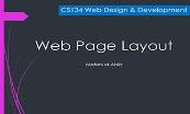 Web Page Layout Powerpoint Presentation