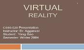 Virtual Reality Powerpoint Presentation