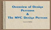 Overview of Design Patterns Powerpoint Presentation