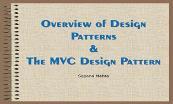 Overview of Design Patterns Powerpoint Presentation
