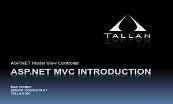 ASP DotNET MVC INTRODUCTION Powerpoint Presentation