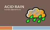 Acid Rain Causes And Effects Powerpoint Presentation