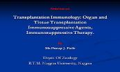 Transplantation Immunology Powerpoint Presentation