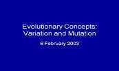 Variation And Mutation Powerpoint Presentation