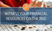 Witness Your Financial Resources On The Rise Powerpoint Presentation