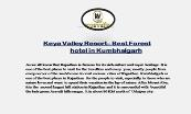 Keya Valley Resort– Best Forest hotel in Kumbhalgarh Powerpoint Presentation