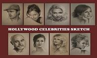 Hollywood Celebrities Sketch PowerPoint Presentation