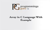 Array in C Language With Example PowerPoint Presentation