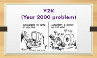 Y2K Problem and Its Solution PowerPoint Presentation