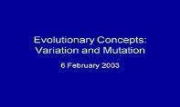 Variation And Mutation PowerPoint Presentation