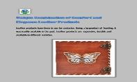 Fashion Leather Store- Unique Combination of Comfort and Elegance Leather Products PowerPoint Presentation
