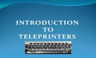 TELEPRINTERS PowerPoint Presentation