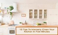 10 Tips To Intensely Clean Your Kitchen In Few Minutes PowerPoint Presentation