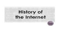 History Of Internet PowerPoint Presentation