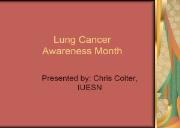 Lung Cancer Awareness Month Powerpoint Presentation
