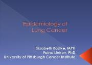 Epidemiology of the Lung Cancer Powerpoint Presentation