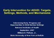 Early Intervention for ADHD-Archives Drugabuse Powerpoint Presentation