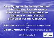 Revised ADHD Training Powerpoint Presentation