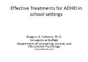 Effective Treatments for ADHD Powerpoint Presentation