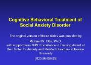Pollack APA Symposium-Anxiety Disorders Association of America Powerpoint Presentation