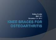 Knee braces for Osteoarthritis Powerpoint Presentation