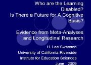 Reading Research for Students with Learning Disabilities Powerpoint Presentation