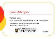 Food Allergies Powerpoint Presentation