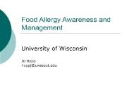 Food Allergy Awareness Powerpoint Presentation