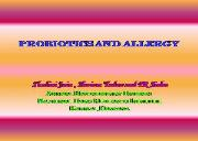 Probiotics and Allergies Powerpoint Presentation