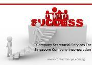 Company Secretarial Services For Singapore Company Incorporation Powerpoint Presentation