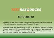 Test Machine Powerpoint Presentation