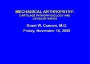 Osteoarthritis Terminology Powerpoint Presentation