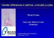 Gender differences in asthma Powerpoint Presentation