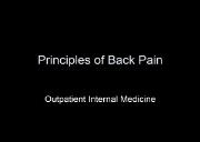 Download Principles of Back Pain Powerpoint Presentation