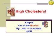 High Cholesterol Powerpoint Presentation