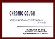 Idiopathic Cough Powerpoint Presentation