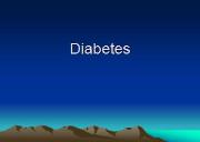 Overview of Diabetes Powerpoint Presentation