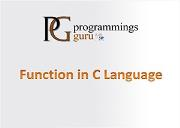 Function in C Language Powerpoint Presentation