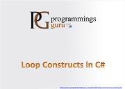 Looping Statements in C Sharp Powerpoint Presentation