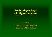 Pathophysiology of hypertension Powerpoint Presentation