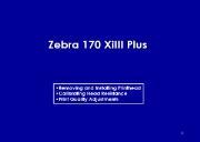 Zebra 170 XiIII Plus Powerpoint Presentation