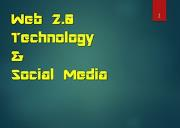 Web 2 0 Technology and Social Media Powerpoint Presentation