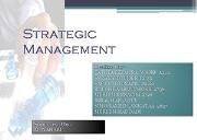 Strategic Management Powerpoint Presentation