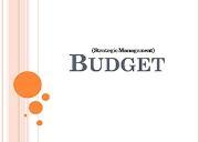 Budget Powerpoint Presentation