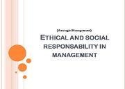 Ethical and Social Responsibility in Management Powerpoint Presentation