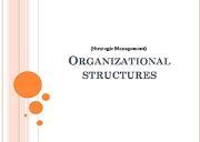 Organizational Structures Powerpoint Presentation