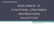STRATEGIES AND RESOURCES ALLOCATION Powerpoint Presentation
