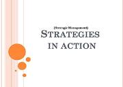 Strategies in Action Powerpoint Presentation